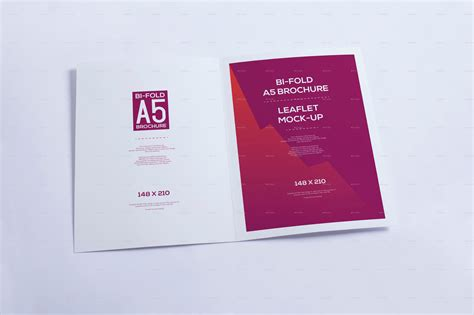 page layout a5 booklet bi fold a5 brochure leaflet mock up by xepeec graphicriver