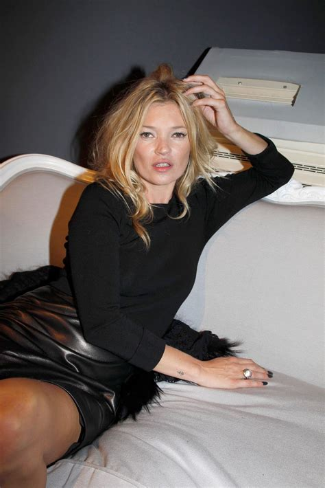 lovely in leather kate moss wearing a leather skirt