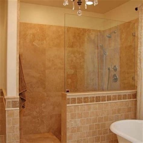 Shower No Door The 1 2 Wall No Door Shower For The Home Pinterest