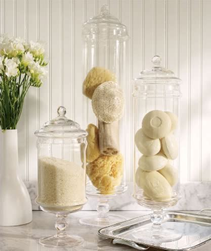 apothecary jars for bathroom apothecary jars filler ideas lori s favorite things