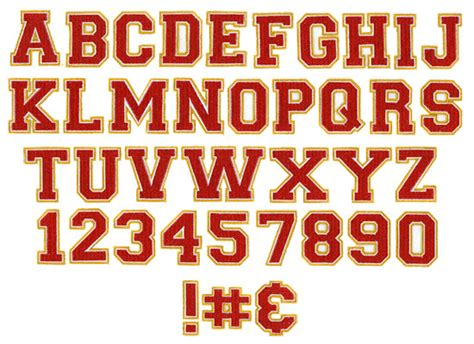 athletic color athlete 3 color embroidery font annthegran