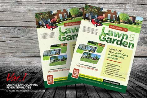 Lawn Landscaping Flyer Templates By Kinzi21 Graphicriver Landscaping Flyer Templates