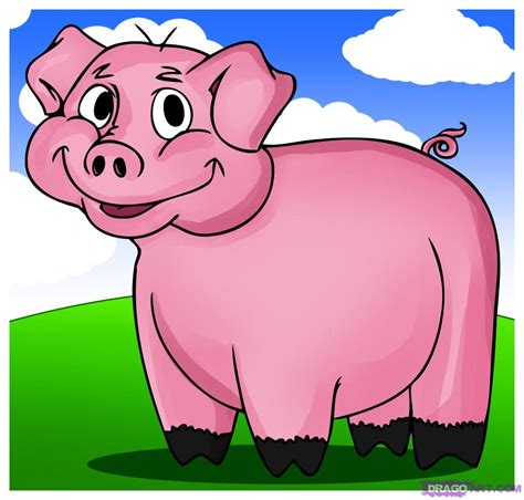 how to a pig how to draw a pig step by step animals animals free drawing