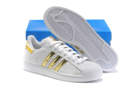 cozy adidas superstar ii white gold shoes fashion