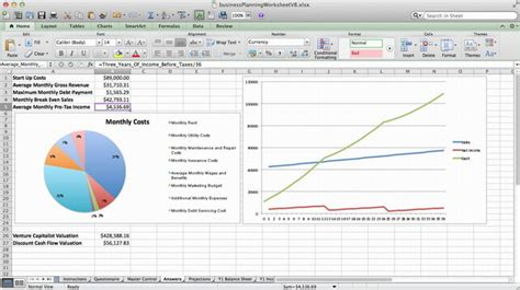 simple business plan template excel excel spreadsheet for planning a new business muskblog