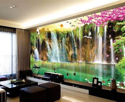 3d wallpaper for home decoration mural 3d wallpaper 3d wall papers for tv backdrop waterfall scenery 3d wallpaper landscape home