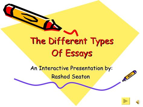 Different Forms Of Essays by Different Types Of Essays