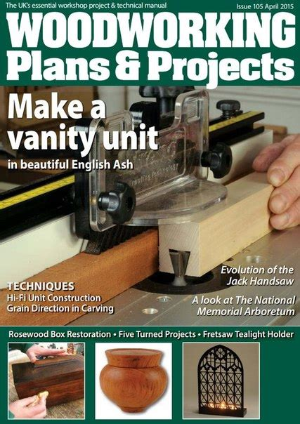 woodworking plans projects april