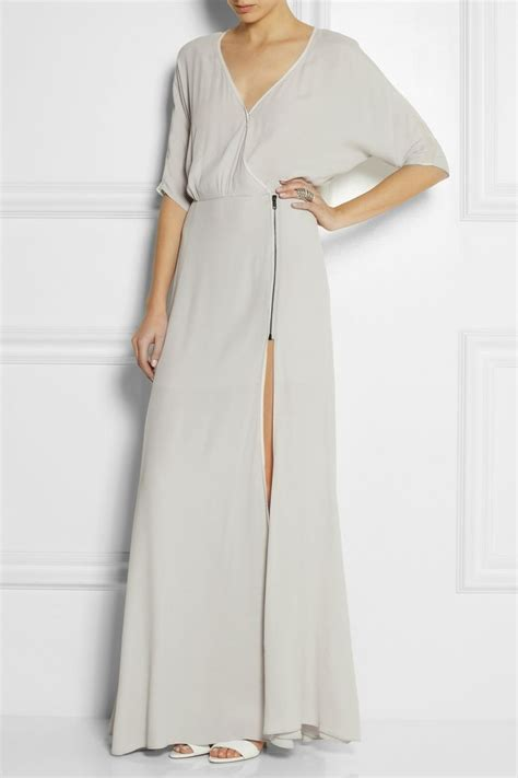 Maxi Catarina Crepe 2 dagmar lillian wrap effect crepe maxi dress net a porter s closet