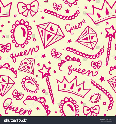 seamless pattern girly vector seamless girly pattern of jewelry and decorations