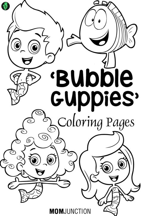 Bubble Guppies Coloring Pages 25 Free Printable Sheets Free Guppies Coloring Pages