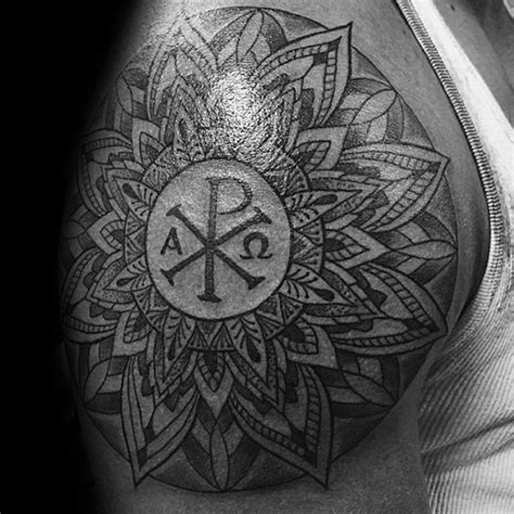 christian tattoo chi rho 50 chi rho tattoo designs for men christian symbol ink ideas