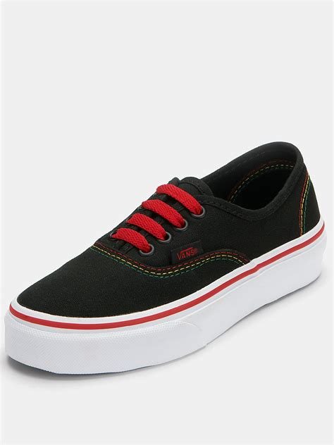 Vans Authentic 23 vans vans authentic rasta plimsolls in for black lyst