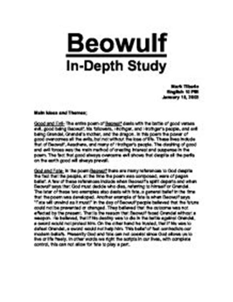 themes in the book grendel beowulf main ideas and themes a level classics