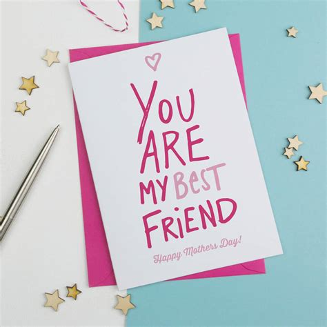 best mothers day cards best friend mothers day card by a is for alphabet