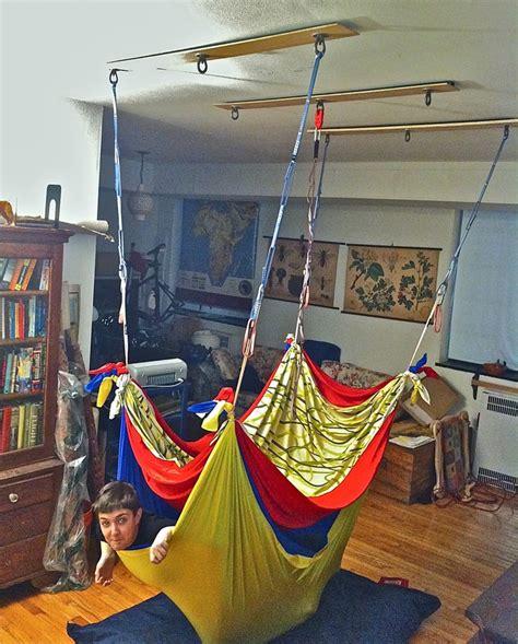 lycra hammock swing bamboo quot strips quot with lycra hammock ot stuff pinterest