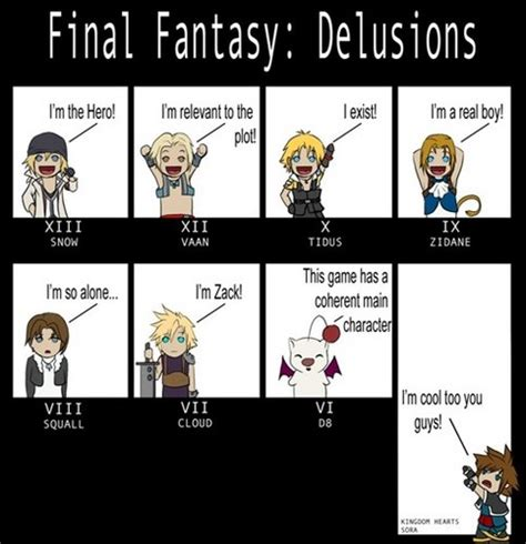 Final Fantasy Memes - kingdom hearts and final fantasy images some memes part2