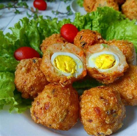membuat bakso telur resep bakso udang isi telur puyuh sedap gurih lihat resep
