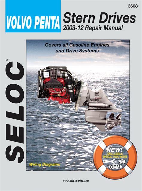 volvo penta manuals service shop  repair manual    stern drives