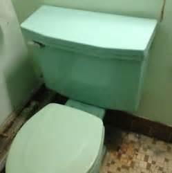 Sea foam green american standard toilet tank amp lid 1950 s retro green