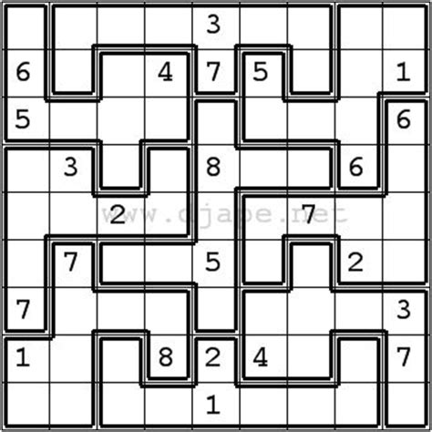 printable outside sudoku jigsaw sudoku puzzles pinterest