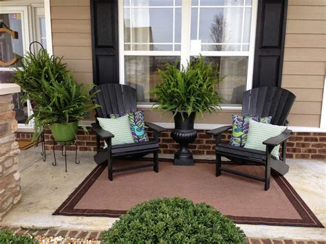 porch decorating ideas front porch decorated with adirondack chairs and potted