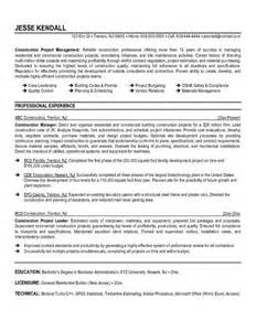 Construction Management Resume Templates by Microsoft Project Manager Resume Template