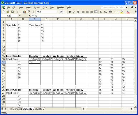 Schedule Matrix Matrix Schedule Template