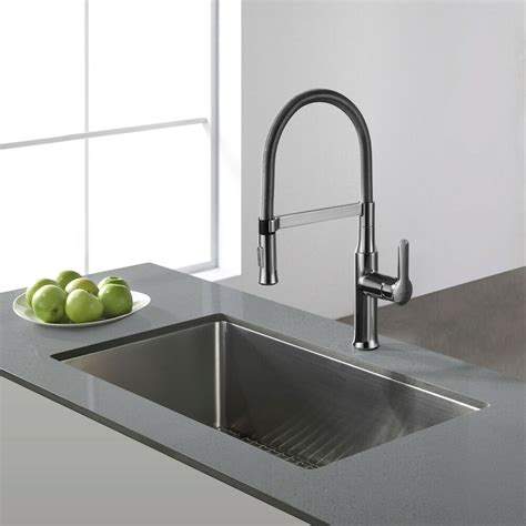kraus 30 inch undermount single bowl steel kitchen sink ebay