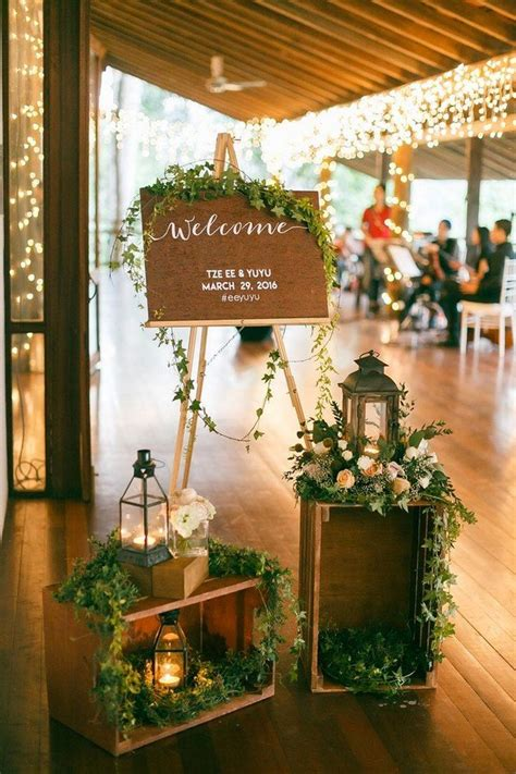 Dekorasi Ruangan Kaligrafi Shabby Green Pink Floral 20 X 30 Walldecor 20 brilliant wedding welcome sign ideas for ceremony and