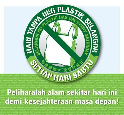 Aufkleber Von Plastik Lösen by Sabtu Hari Tanpa Beg Plastik 20 Sen Satu Beg Wajar