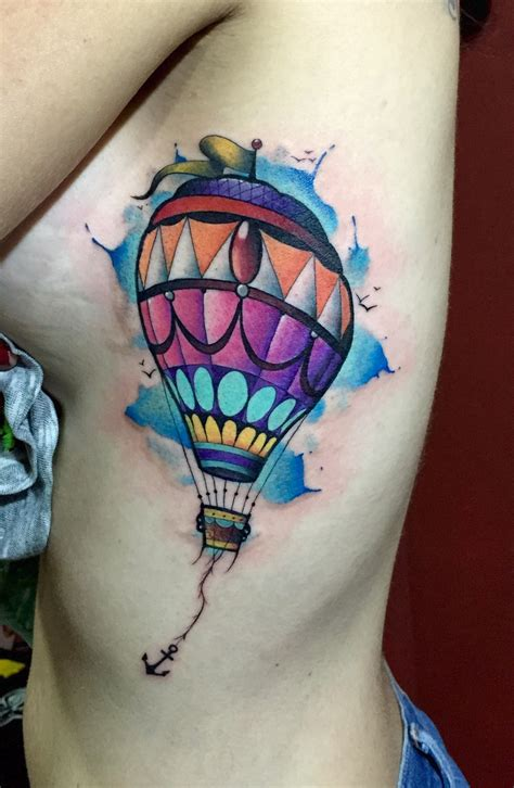 aerostatic watercolor tattoo neotraditional