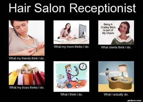 hair salon receptionist w perception vs fact picloco