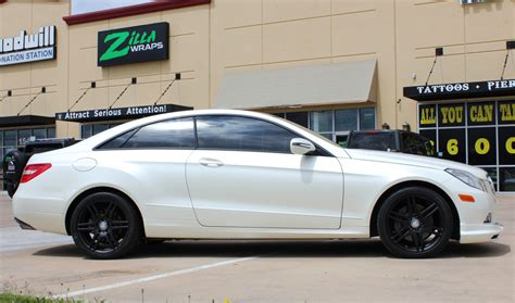 white wrapped cars satin pearl white mercedes e350 car wrap zilla wraps