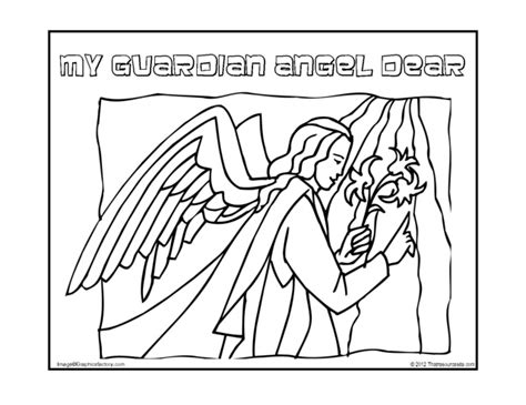guardian angels coloring page angels archives page 3 of 4 that resource site