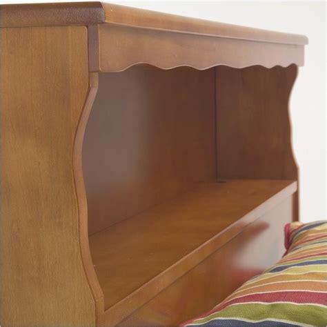 twin wood headboard pemberly row twin wood bookcase headboard in maple pr