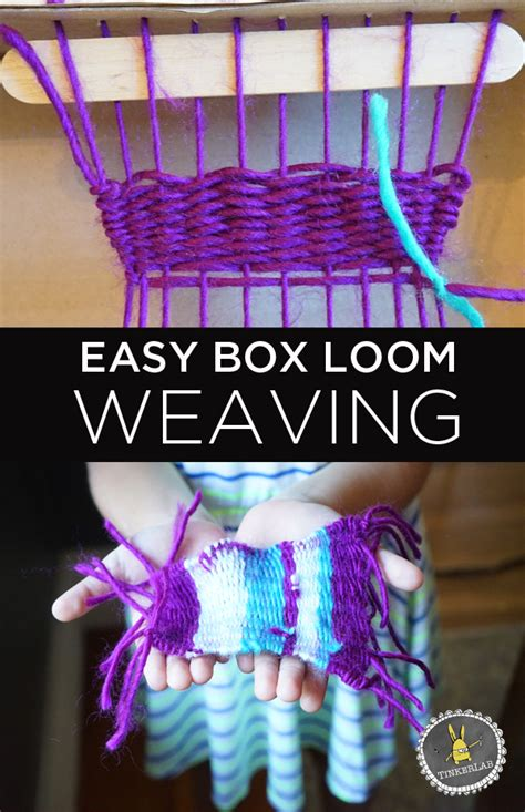 how to make a simple box loom weaving tinkerlab