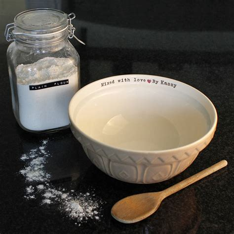 personalised bowls personalised mixing bowl by jonny s notonthehighstreet