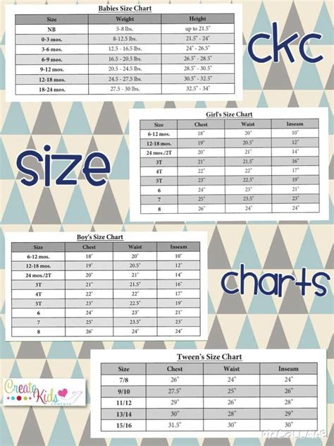 sewing pattern size chart need to know what size to make using your ckc sewing