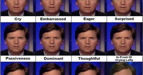 faces  tucker carlson explained