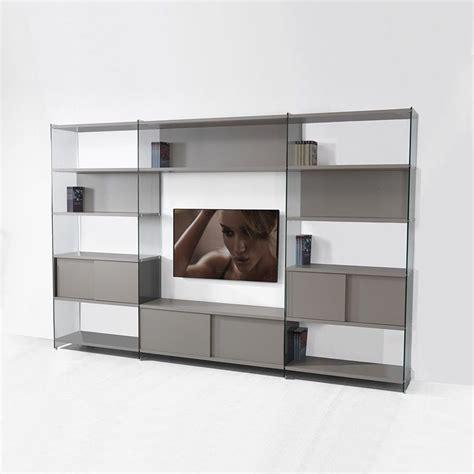 librerie per soggiorno byblos8 libreria parete attrezzata porta tv per soggiorno
