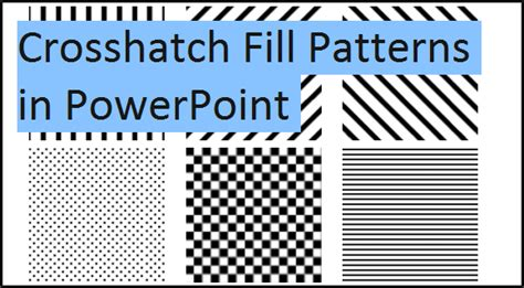 pattern fill shape powerpoint 2007 how to fill graphs with patterns for black and white