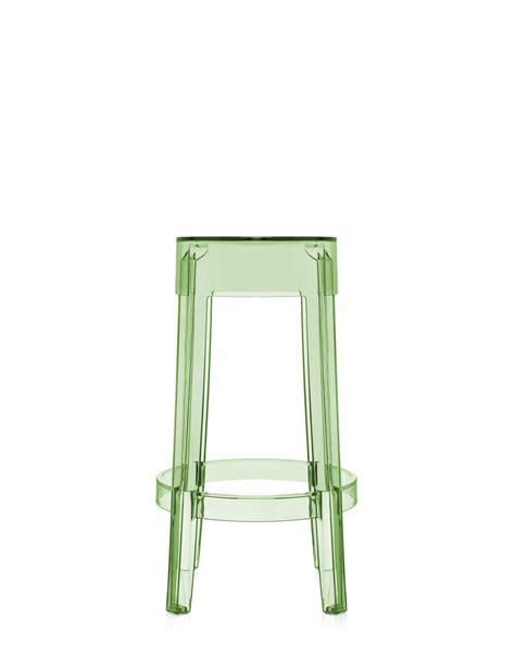 sgabelli trasparenti sgabello kartell charles ghost verde trasparente h 65 cm