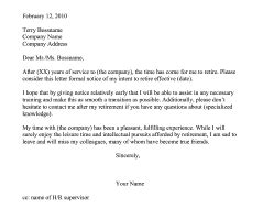 resignation retirement letter templates