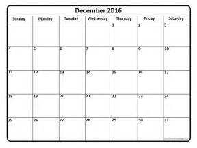 Printable december 2016 calendar