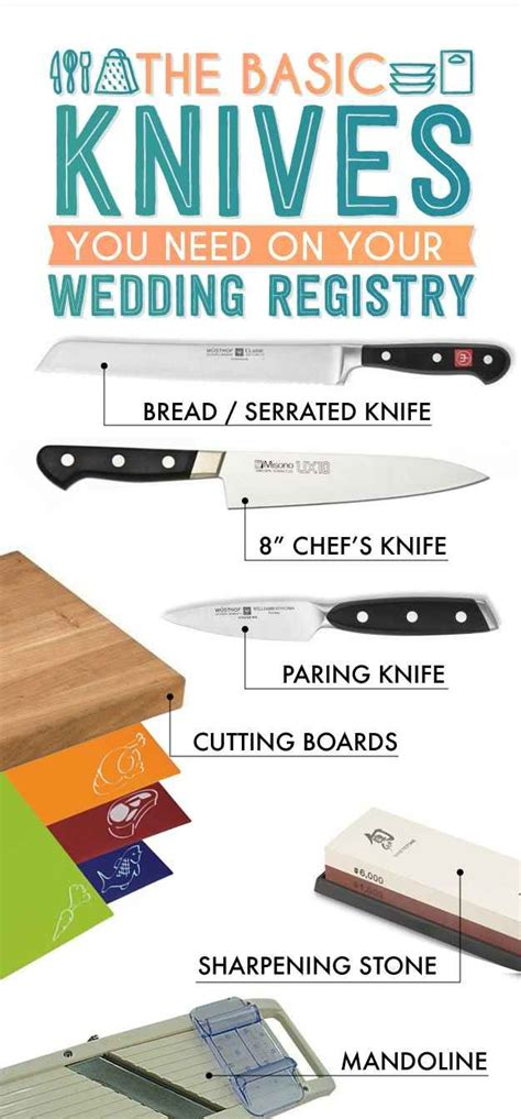 essential knives for the kitchen basic knives the essential wedding registry checklist for