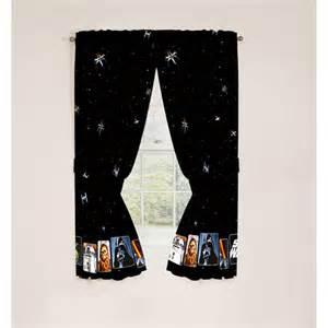 Starwars Curtains Star Wars Cotton Blackout Drapes Walmart Com