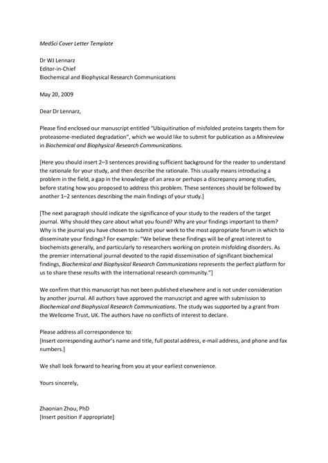 cover letter to journal editor sle letter to journal editor letters free sle letters