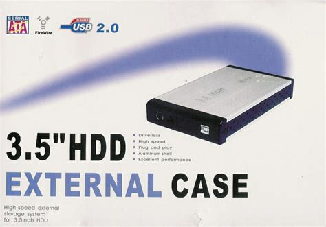 Casing Hardisk External Hdd 3 5 Ide Usb 2 0 Pata usb 2 0 driverless sata 3 5 hdd disk enclosure cover shell with external power