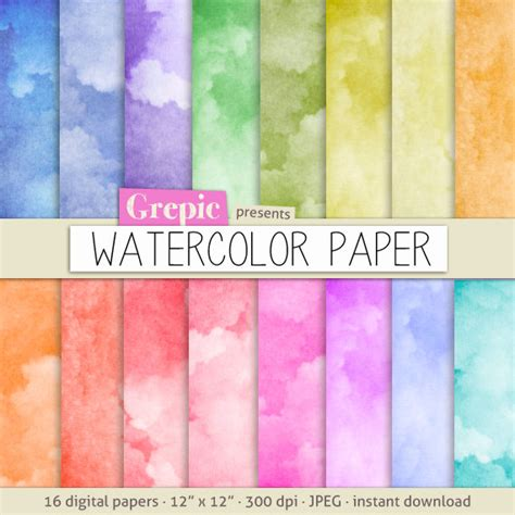 How To Make Watercolor Paper - watercolor digital paper watercolor paper with